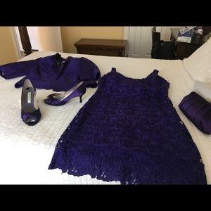 Ralph Lauren purple lace dress size 14